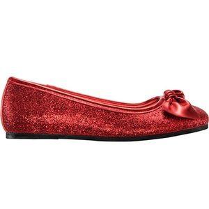 428347032 Nina. Larabeth Glitter Ballet Flat red Shoes